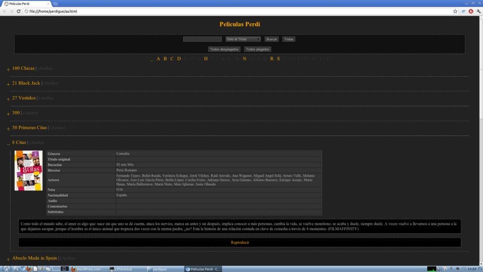 Captura pantalla gcstar